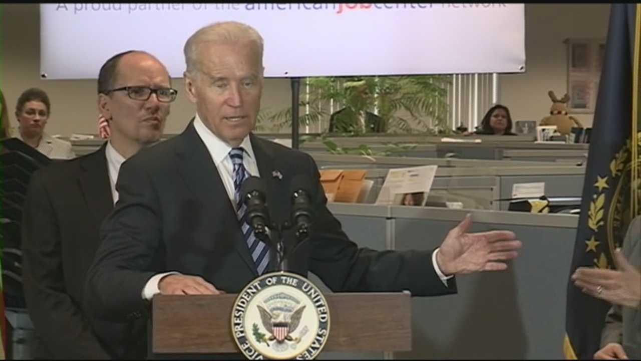 Joe Biden talks jobs in New Hampshire