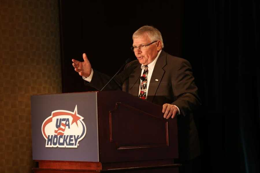 President of USA Hockey Ron DeGregorio grew up in Salem, N.H.