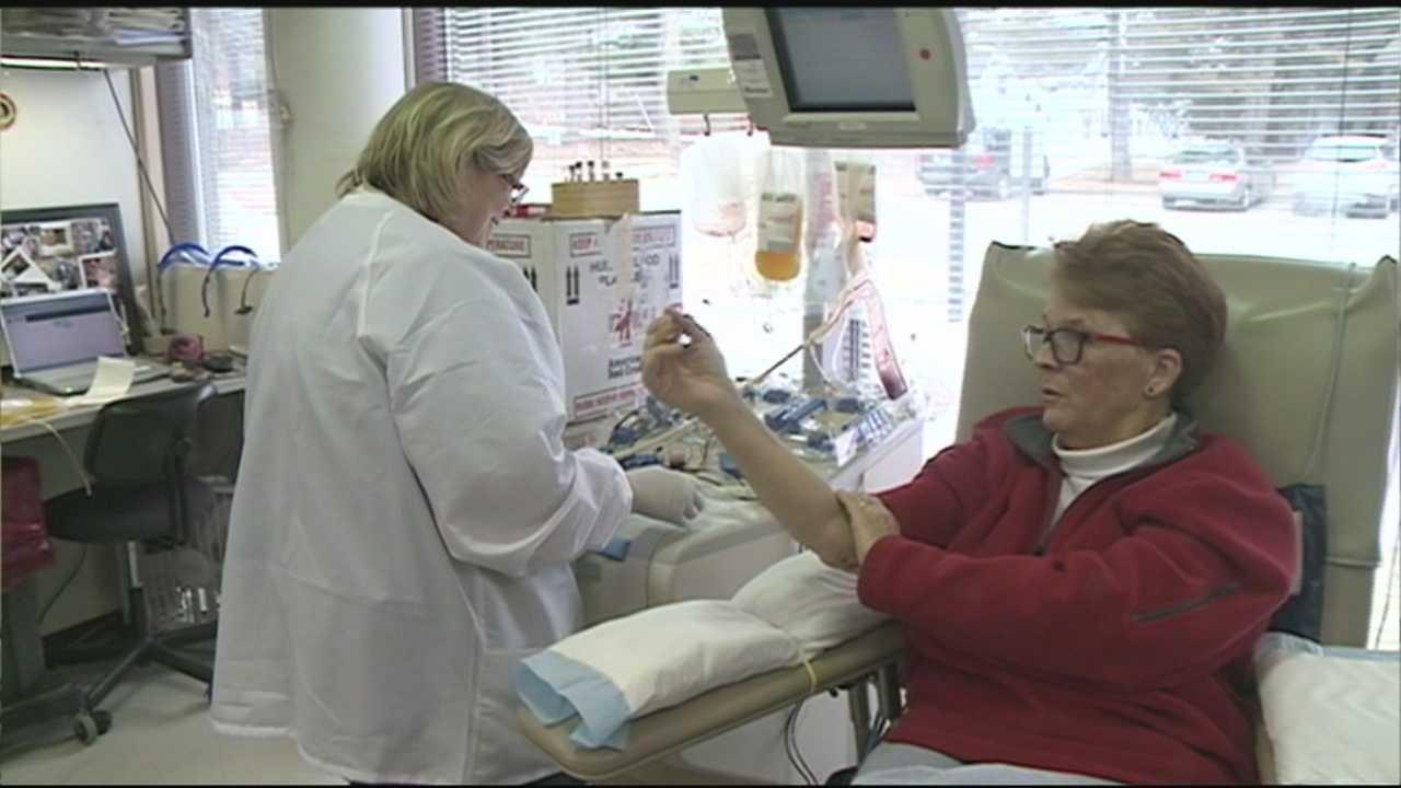 A Gilford woman spent the last quarter-century donating life-saving platelets to help newborns.