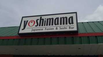 15 tie) Yoshimama Japanese Fushion and Sushi Bar in Nashua