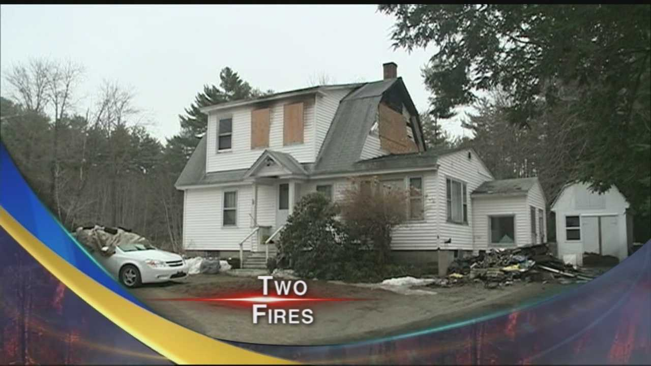Rochester firefighters battled two fires Sunday morning on Portland Street and Bunker Hill Road.
