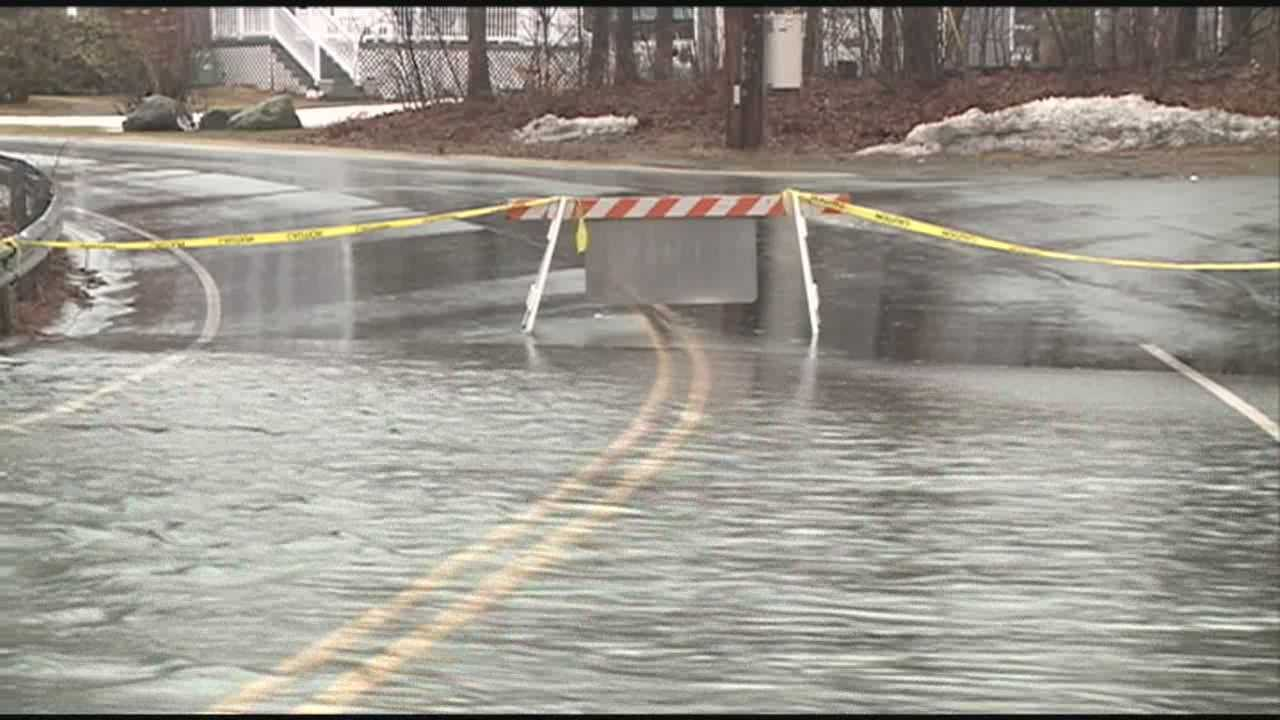 Rain, melting snow lead to flooded roads