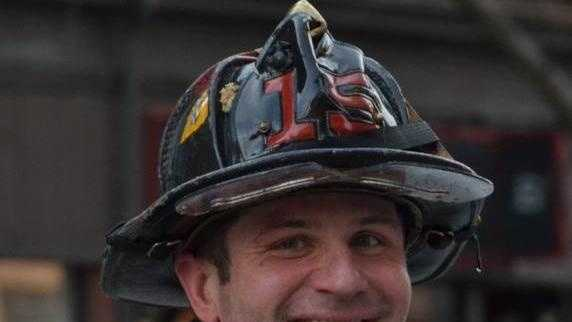Firefighter Mike Kennedy was killed while battling a fire on Beacon Street in Boston on March 26, 2014.