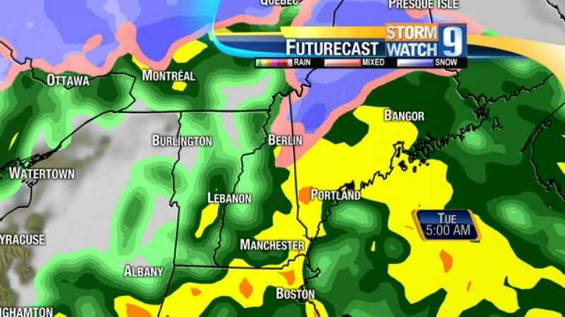 map-Monday night rain