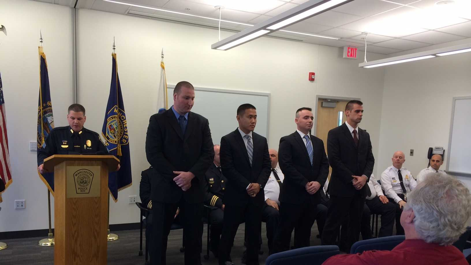 New Manchester officers