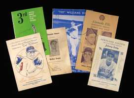 Lot of (6) Testimonial/Salute and other notable programs from the Pesky collection
