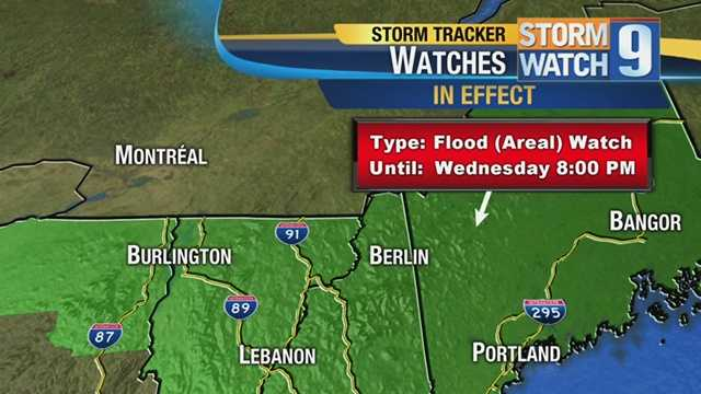 Flood watch in effect for most of New Hampshire