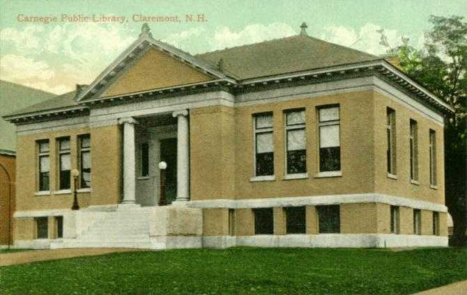 Fiske Free Library in Claremont, N.H.