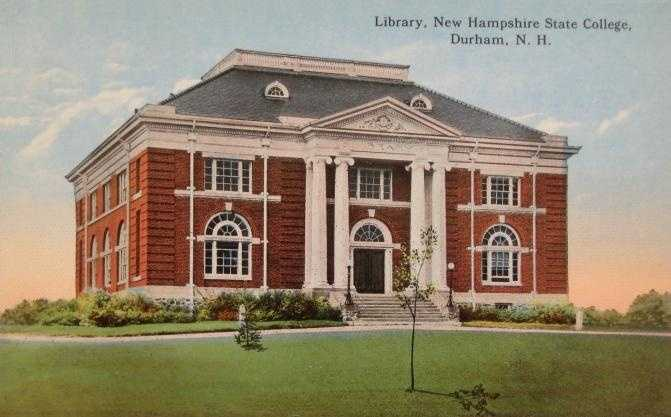 New Hampshire College of Agriculture and the Mechanic Arts in Durham, N.H.This facility currently houses the UNH English department.