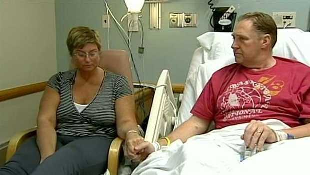 Ron and Karen Brassard, of Epsom, N.H., were both injured by the first bomb.