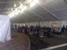 The Boston Marathon medical tent.