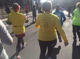 Friends of Martin Richard, who was killed in the bombing, walked or ran the 5K.