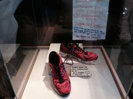 On Sunday, News 9's Sean McDonald visited the Boston Public Library's memorial exhibit.