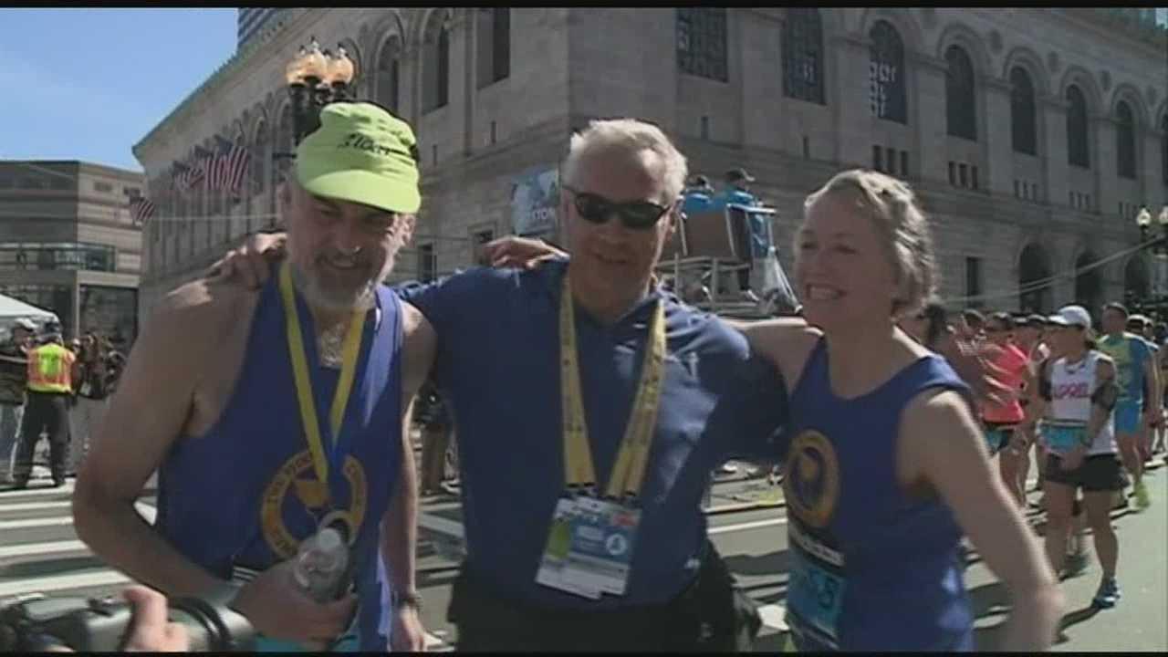 Thousands come out for Boston Marathon