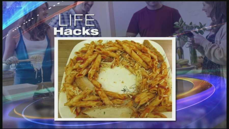 Space a circle in the middle of the food on your plate before putting it in the microwave.