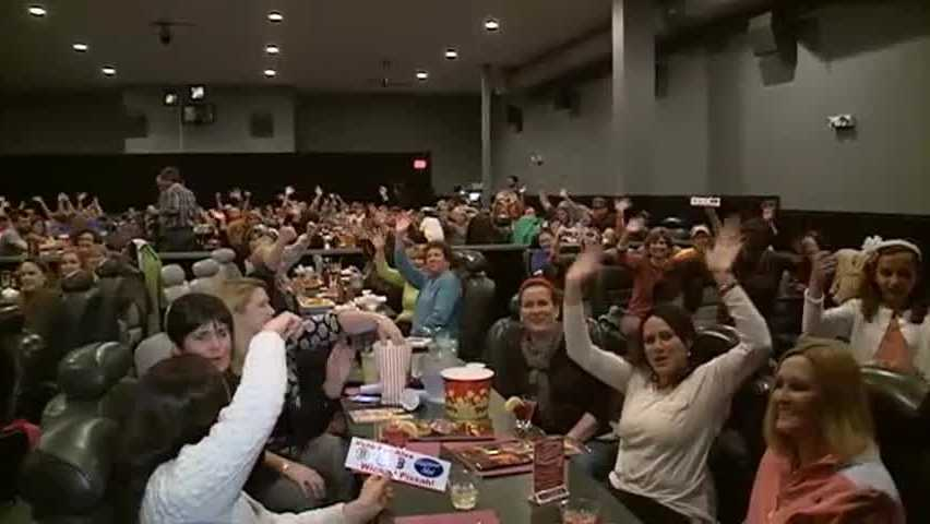 Family and friends gather at Chunky's in Nashua to watch and cheer on Mont Vernon's Alex Preston on American Idol.