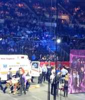 A safety official says nine acrobats have been seriously injured after falling from an aerial platform during a Rhode Island circus.