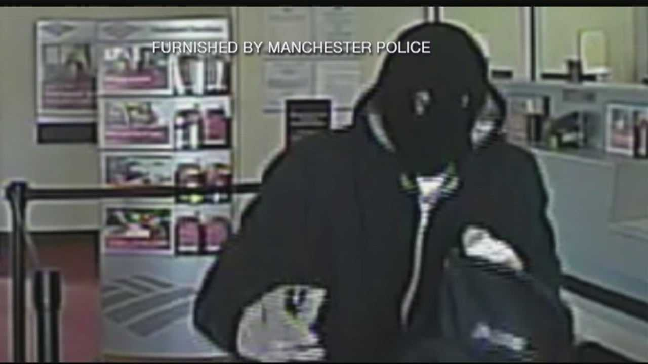 Manchester police search for armed bank robber