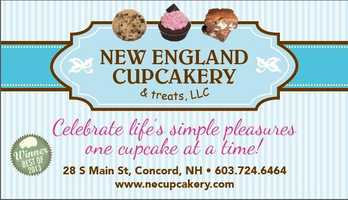 7. New England Cupcakery & Treats in Concord