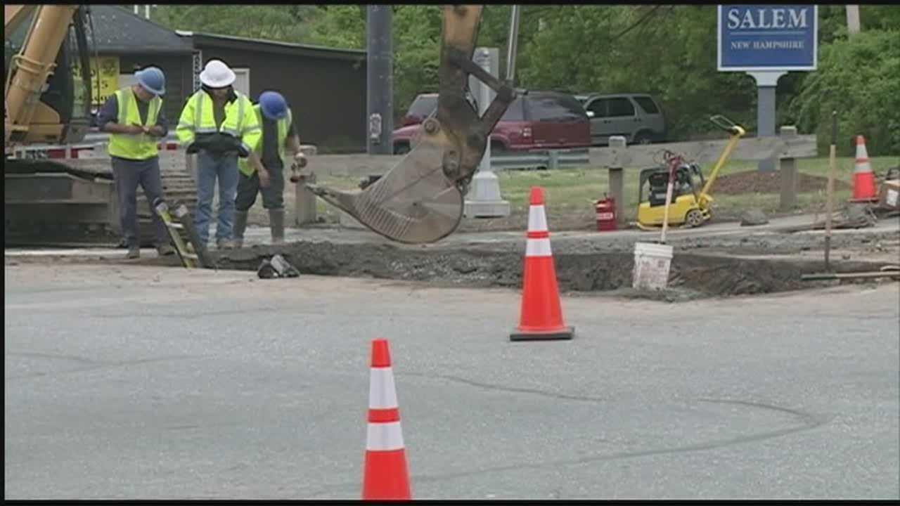 Water main break affects traffic all day in Salem