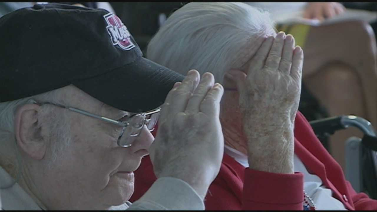 Veterans home hosts moving memorial in Tilton.