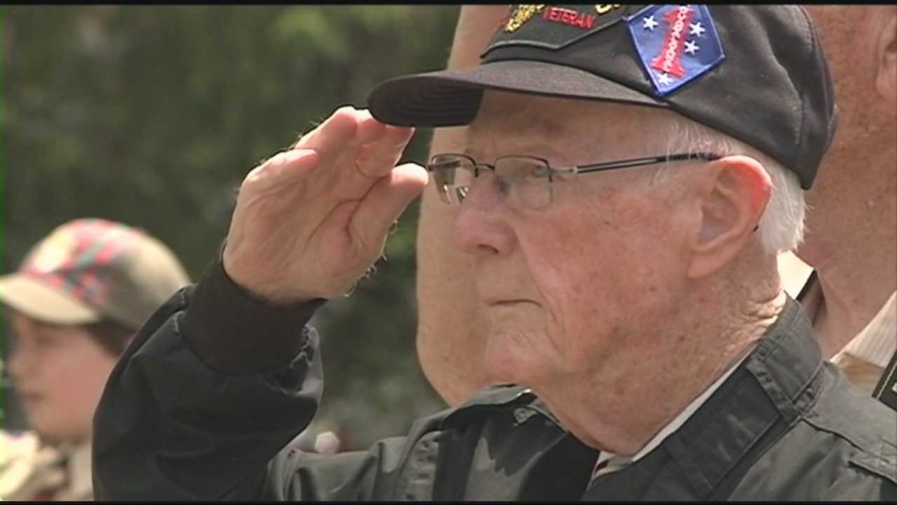 A 90-year-old veteran who served at Guadalcanal gets a special surprise after the Hampton Memorial Day parade.