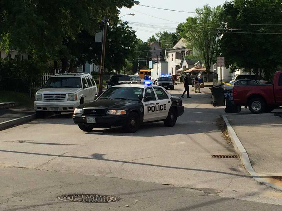 Manchester police were on the scene of a possible home invasion and shooting on Tuesday morning.