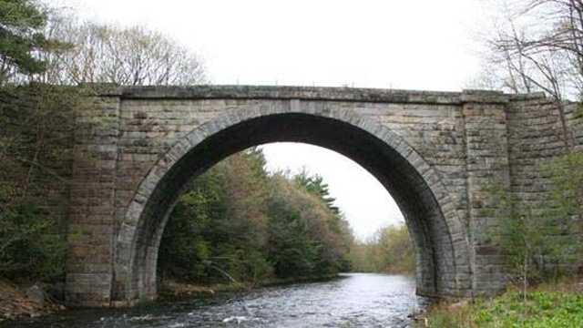 Stone Arch Bridge in Keene, NH