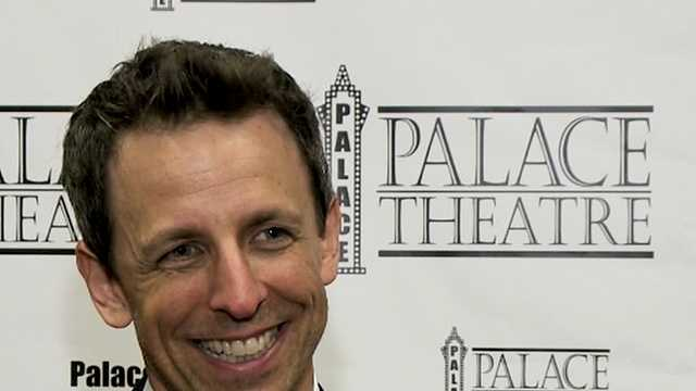 Seth Meyers performs at Palace Theatre fundraiser