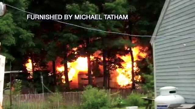 Fire damages Boscawen home