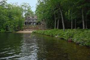 The extensive waterfront is fantastic, with frontage that offers long lake and mountain views.