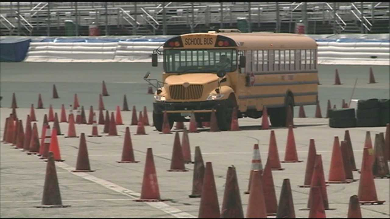 School buses take to track at NHMS