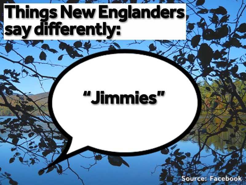 New Englanders eat ice cream with chocolate or rainbow jimmies, not sprinkles.