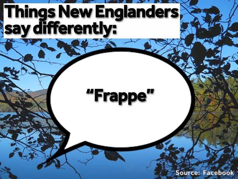 """""""Frappe"""" is used in place of """"milkshake"""" or """"shake."""""""
