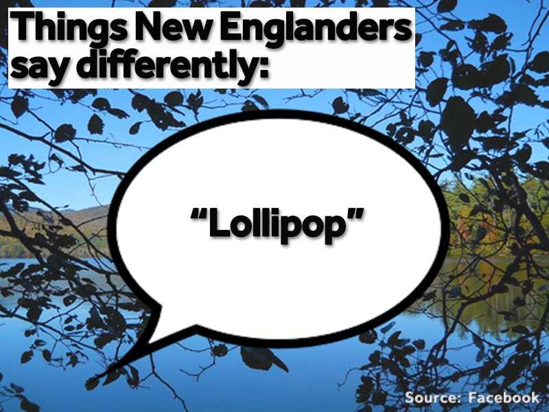 """Outside of New England, a """"lollipop"""" is considered a """"sucker."""""""