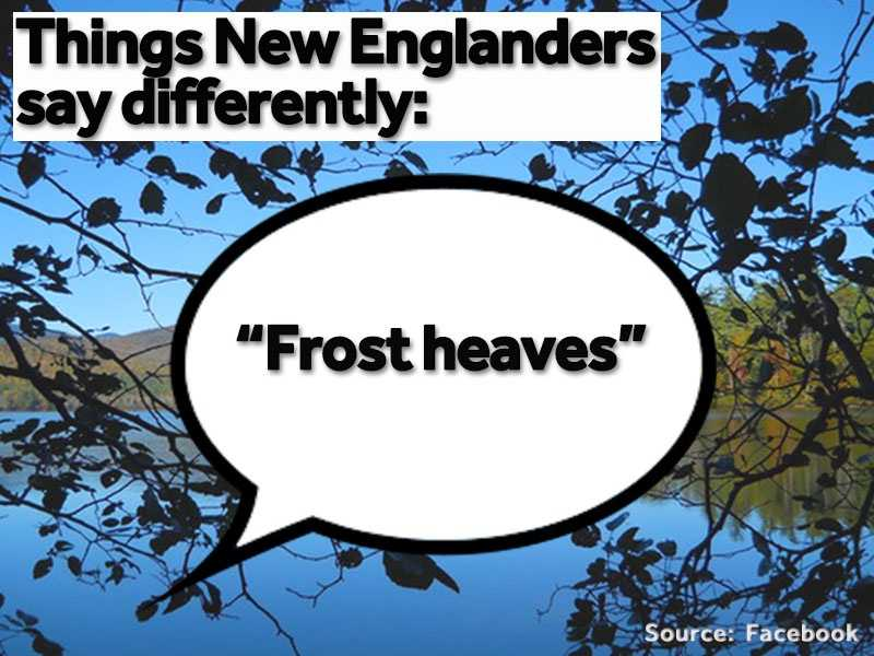 """""""Frost heaves"""" are the bumps and cracks in the road after winter."""