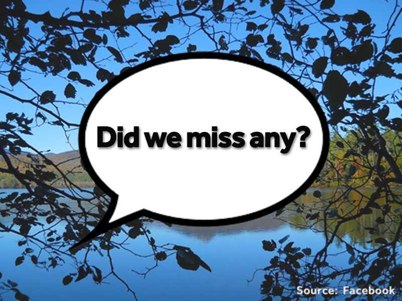 Did we miss any? Let us know on Facebook, in the comments below, or email us at webstaff@wmur.com!