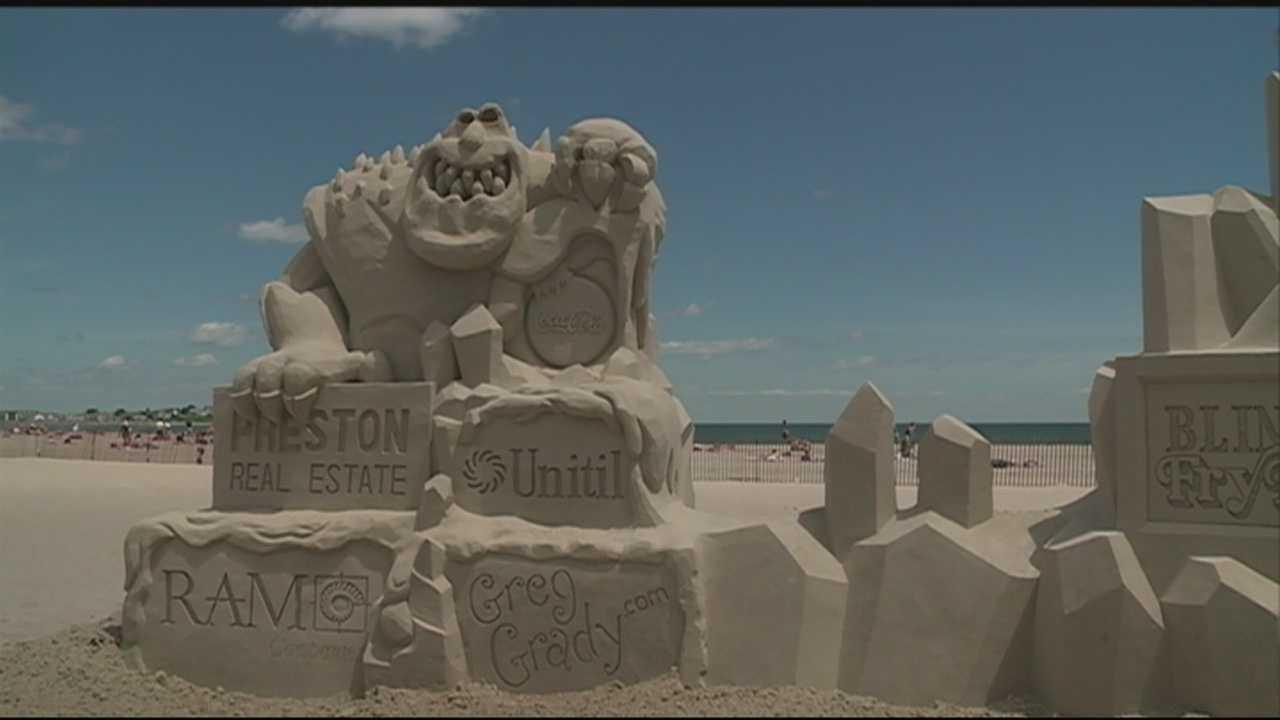 Sand sculpture competition underway