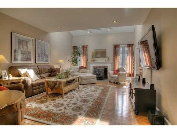 The home includes a living room...