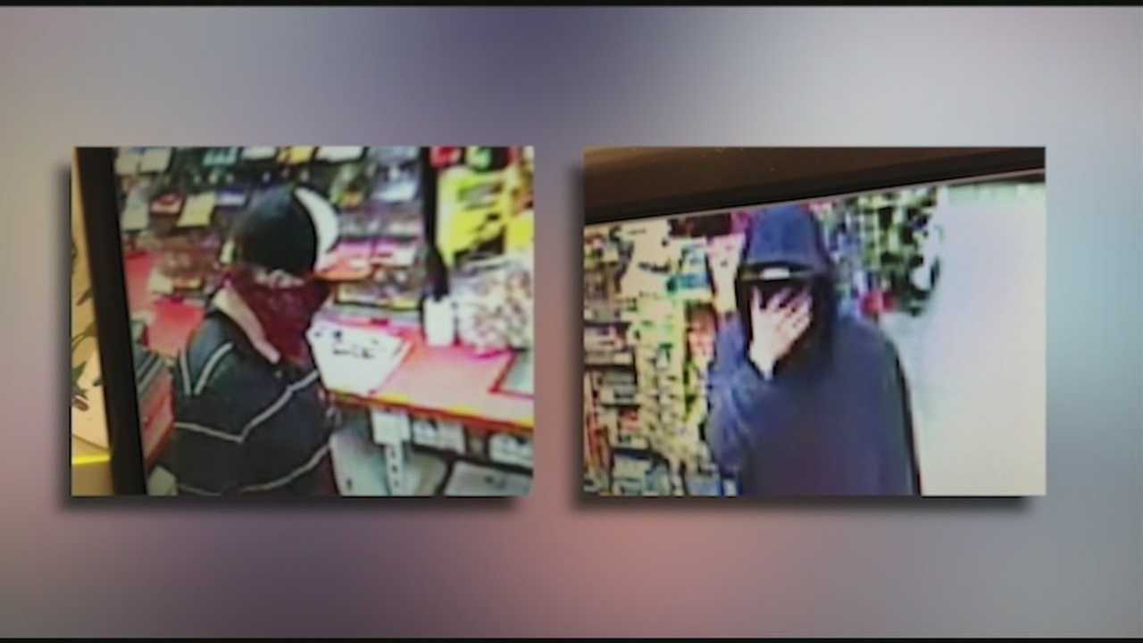 Police investigate an armed robbery of a gas station in Rochester.