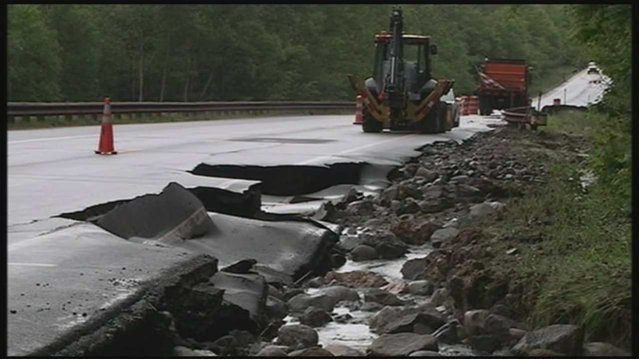 Floodwaters cause damage in Woodstock