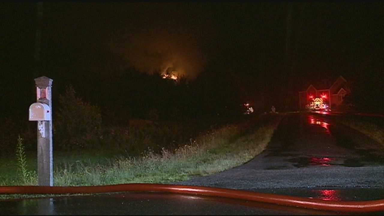 An Epping home caught fire Thursday night after it was struck by lightning.