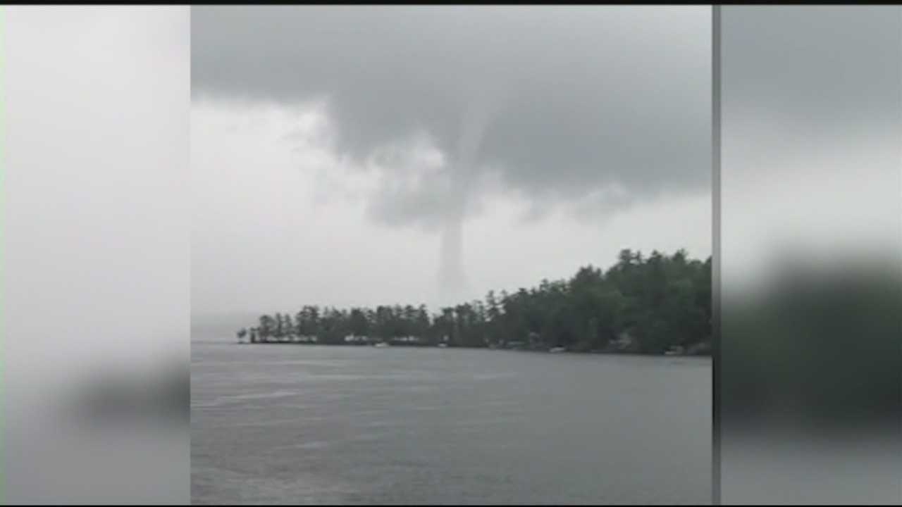 Waterspout seen Friday evening on Lake Winnipesaukee