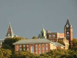 #20 College for the Holy Cross (Massachusetts). Tuition and fees totaled $43,400 for the 2012-13 school year, according the the U.S. Department of Education.