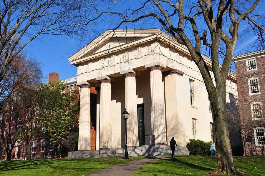 #19 Brown University (Rhode Island). Tuition and fees totaled $43,758 for the 2012-13 school year, according the the U.S. Department of Education.