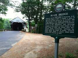 Two things are new. The first is the Blair Bridge that has just been completed after several months of restoration.