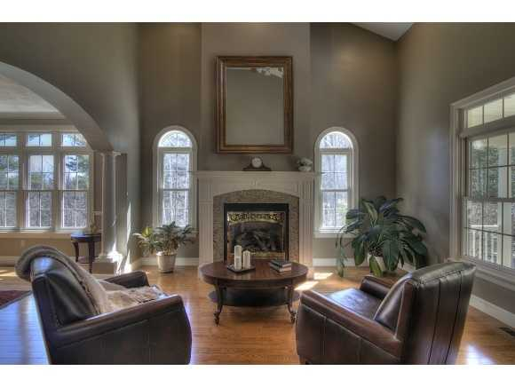 The home also includes several seating areas and six fireplaces.