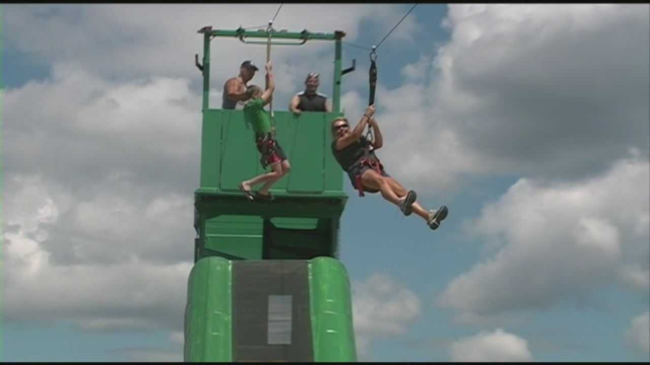 Zip-lining new attraction for Race Weekend
