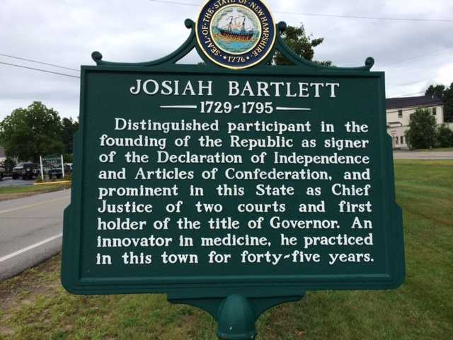 Josiah Bartlett's home in Kingston, built in 1774, is for sale for the first time ever. It was added to the National Registry of Historic Places in 1972.