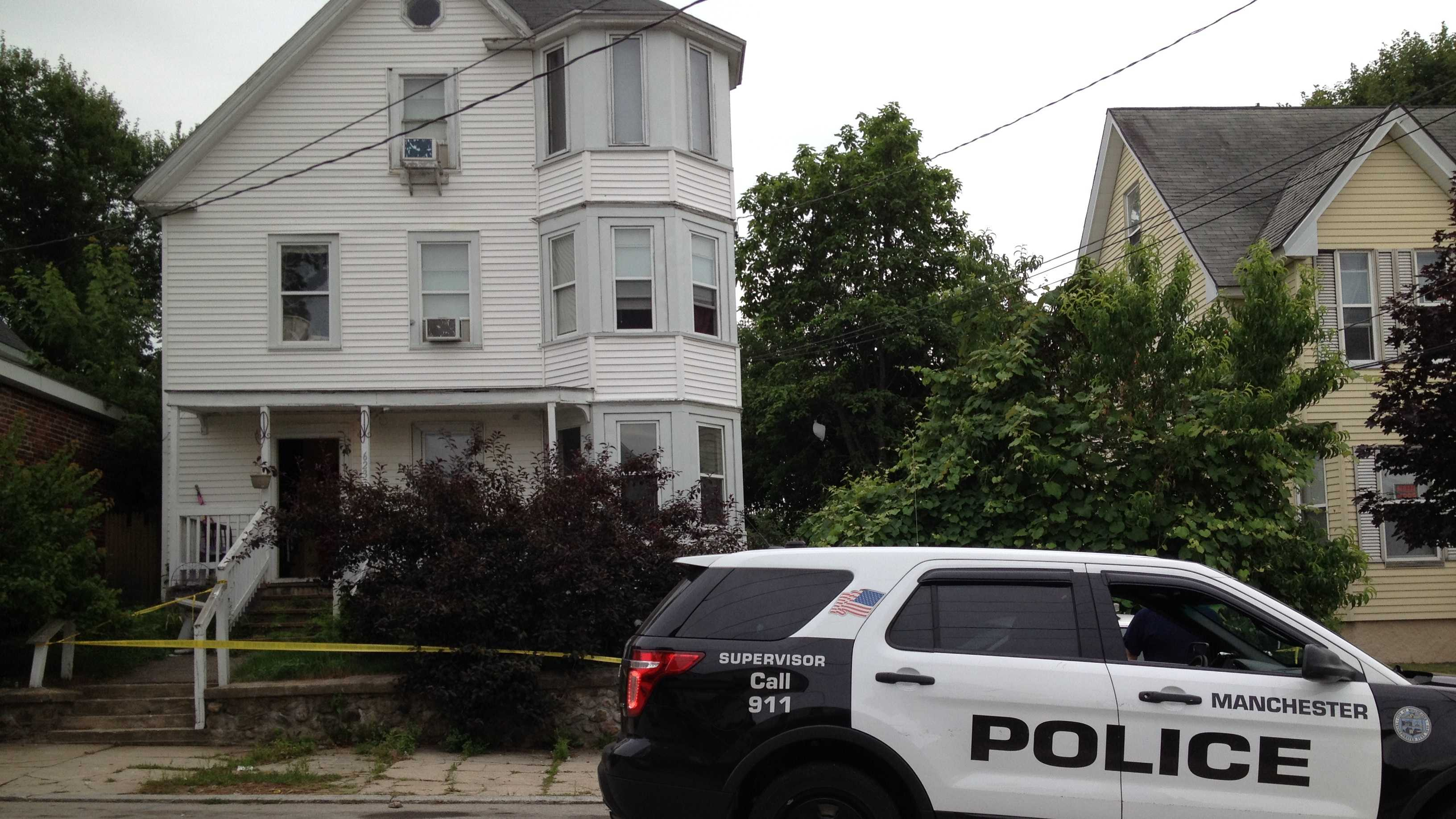 Manchester police responded to 623 Silver Street at 2:22 p.m. Saturday in reference to the gunfire.